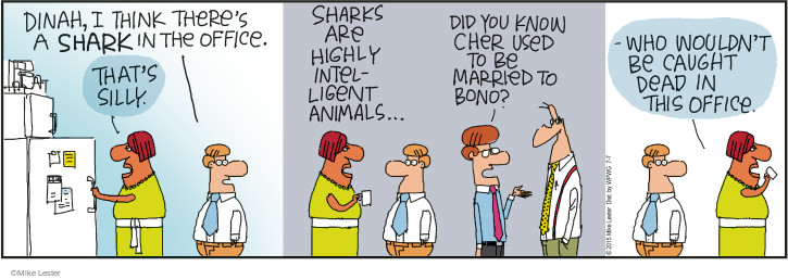 Cartoonist Mike Lester  Mike du Jour 2015-07-07 intelligence