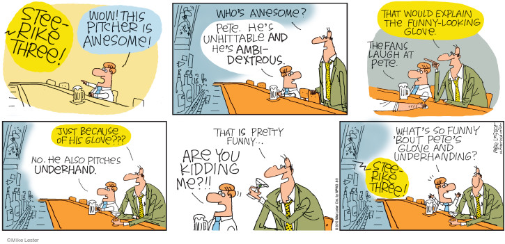 Comic Strip Mike Lester  Mike du Jour 2015-08-09 baseball fan