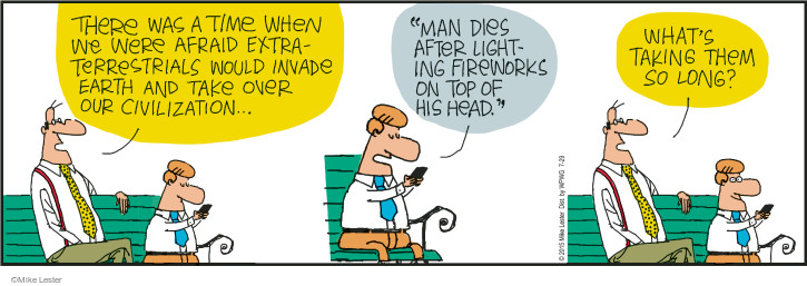 Cartoonist Mike Lester  Mike du Jour 2015-07-29 intelligence