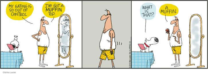 Cartoonist Mike Lester  Mike du Jour 2015-08-04 overeat