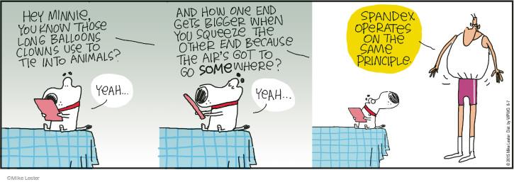 Comic Strip Mike Lester  Mike du Jour 2015-08-07 stretch
