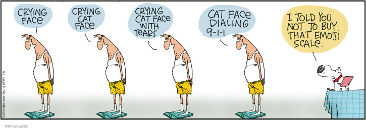 Cartoonist Mike Lester  Mike du Jour 2015-08-08 overweight