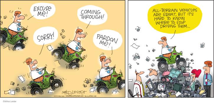 Comic Strip Mike Lester  Mike du Jour 2015-08-30 equipment