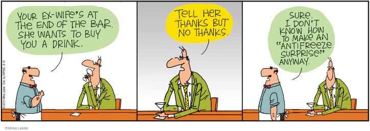Cartoonist Mike Lester  Mike du Jour 2015-08-18 poison