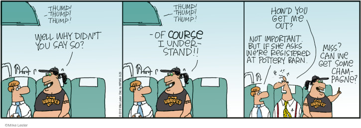 Cartoonist Mike Lester  Mike du Jour 2015-08-29 air travel