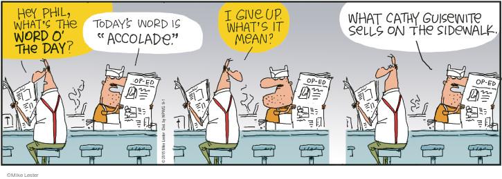 Comic Strip Mike Lester  Mike du Jour 2015-09-01 newspaper