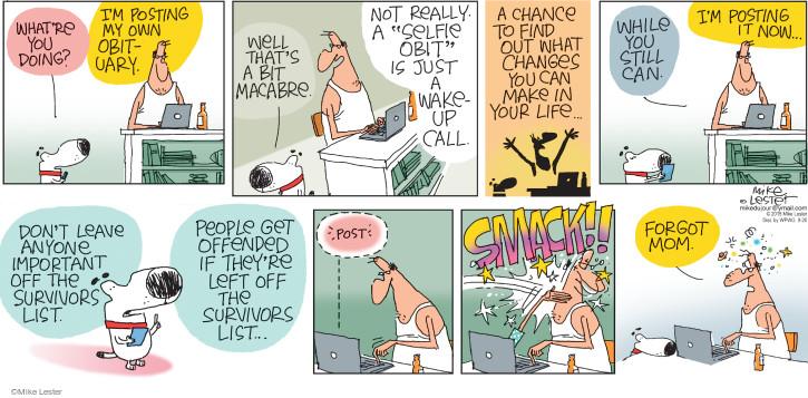Cartoonist Mike Lester  Mike du Jour 2015-09-20 family