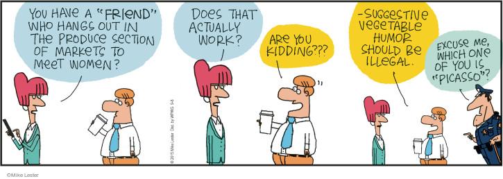 Cartoonist Mike Lester  Mike du Jour 2015-09-08 joke
