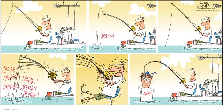 Comic Strip Mike Lester  Mike du Jour 2015-10-11 angler