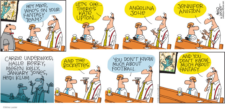 Comic Strip Mike Lester  Mike du Jour 2015-10-25 football team