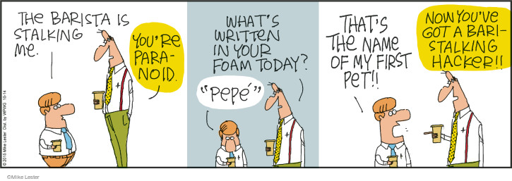 Comic Strip Mike Lester  Mike du Jour 2015-10-14 coffee