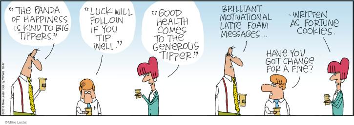 Comic Strip Mike Lester  Mike du Jour 2015-10-17 latte