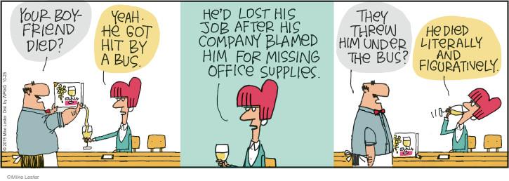 Comic Strip Mike Lester  Mike du Jour 2015-10-23 figuratively