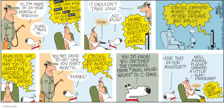 Comic Strip Mike Lester  Mike du Jour 2015-11-22 interest rate