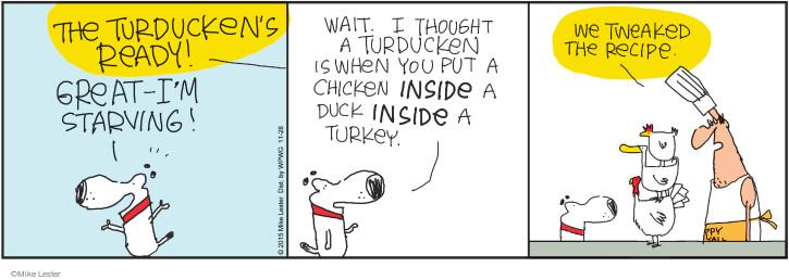 Comic Strip Mike Lester  Mike du Jour 2015-11-28 chicken