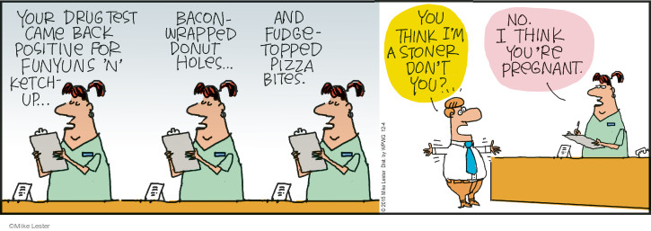 Comic Strip Mike Lester  Mike du Jour 2015-12-04 food craving
