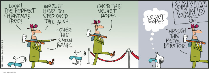 Cartoonist Mike Lester  Mike du Jour 2015-12-10 holiday