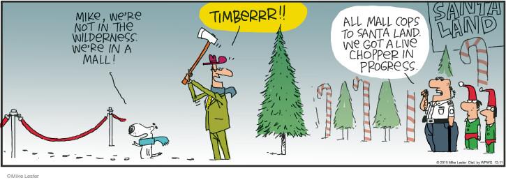 Cartoonist Mike Lester  Mike du Jour 2015-12-11 holiday
