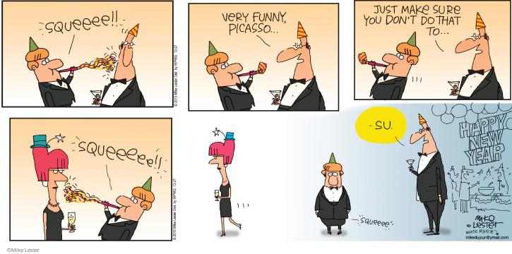 Comic Strip Mike Lester  Mike du Jour 2015-12-27 happy