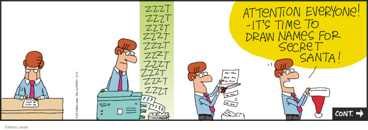 Cartoonist Mike Lester  Mike du Jour 2015-12-14 holiday