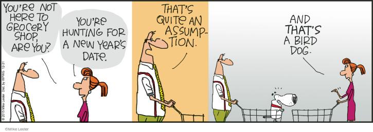 Cartoonist Mike Lester  Mike du Jour 2015-12-31 shopper