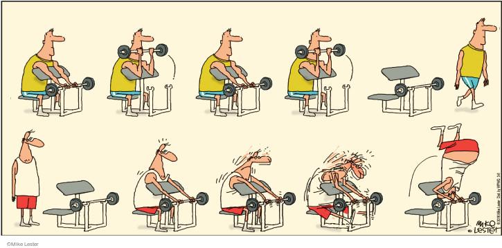 Cartoonist Mike Lester  Mike du Jour 2016-03-06 strength