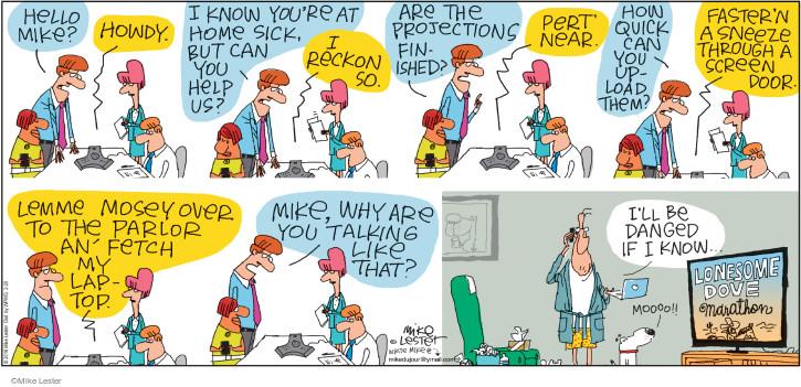 Cartoonist Mike Lester  Mike du Jour 2016-03-20 faster