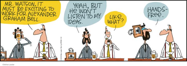 Cartoonist Mike Lester  Mike du Jour 2016-03-09 bell