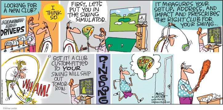 Cartoonist Mike Lester  Mike du Jour 2016-04-03 shopper