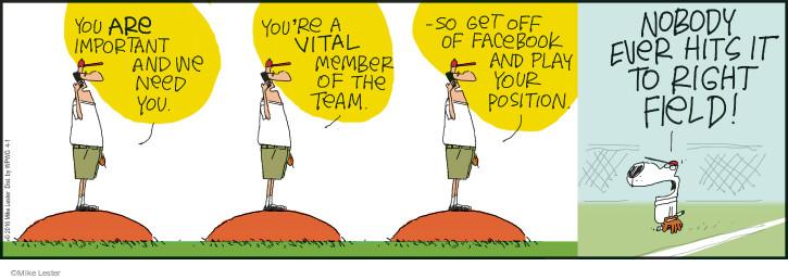 Comic Strip Mike Lester  Mike du Jour 2016-04-01 baseball team