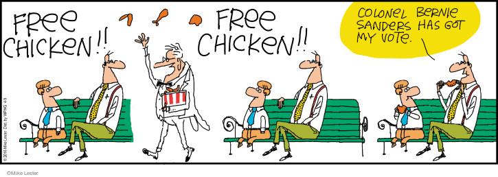 Comic Strip Mike Lester  Mike du Jour 2016-04-09 Bernie Sanders