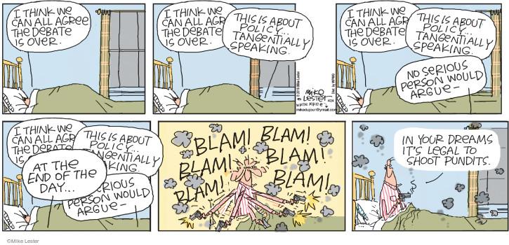 Comic Strip Mike Lester  Mike du Jour 2016-04-24 election debate