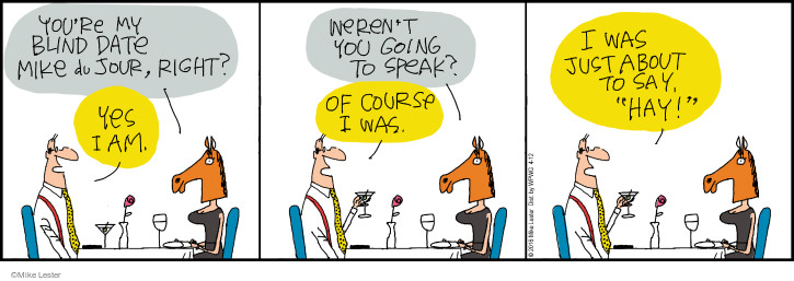 Comic Strip Mike Lester  Mike du Jour 2016-04-12 first date