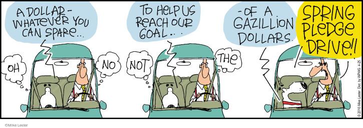 Cartoonist Mike Lester  Mike du Jour 2016-04-25 fundraiser