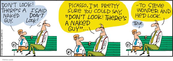 Comic Strip Mike Lester  Mike du Jour 2016-05-02 blind