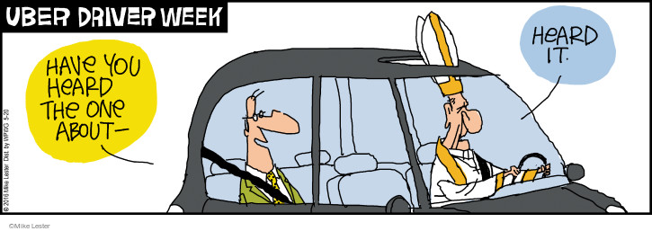 Comic Strip Mike Lester  Mike du Jour 2016-05-20 pope