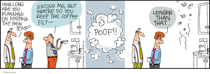 Comic Strip Mike Lester  Mike du Jour 2016-05-26 coffee
