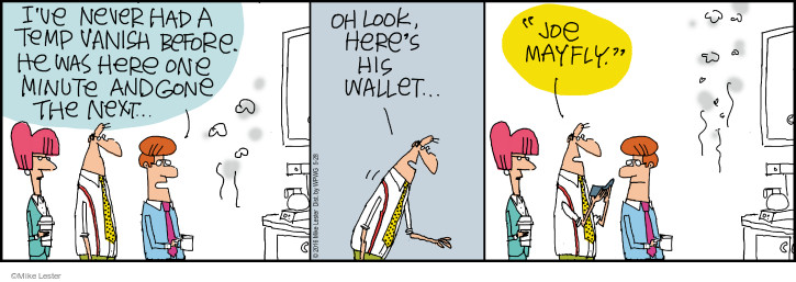 Comic Strip Mike Lester  Mike du Jour 2016-05-28 lifespan