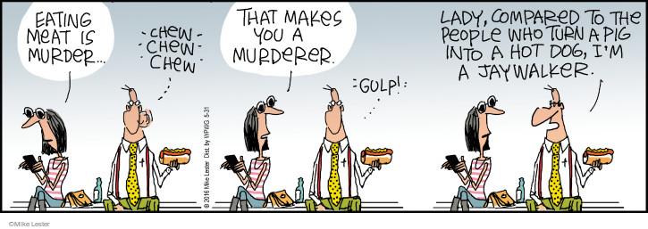 Cartoonist Mike Lester  Mike du Jour 2016-05-31 crime