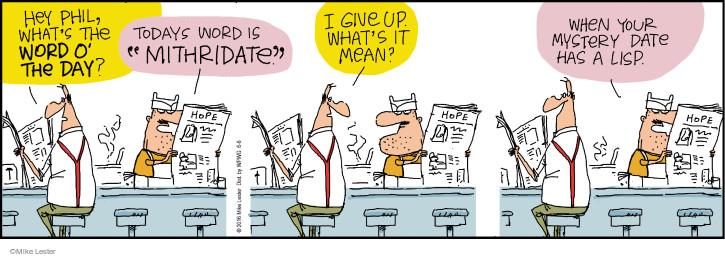 Comic Strip Mike Lester  Mike du Jour 2016-06-06 blind