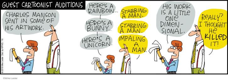 Cartoonist Mike Lester  Mike du Jour 2016-07-06 theme