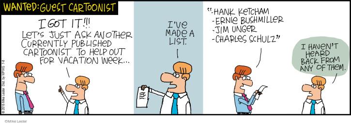 Cartoonist Mike Lester  Mike du Jour 2016-07-08 cartooning
