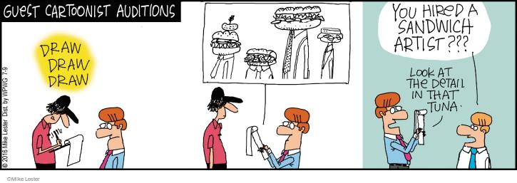 Comic Strip Mike Lester  Mike du Jour 2016-07-09 sandwich