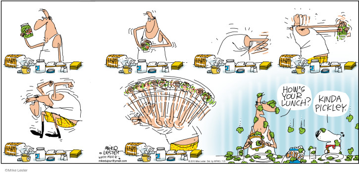Comic Strip Mike Lester  Mike du Jour 2016-07-31 sandwich