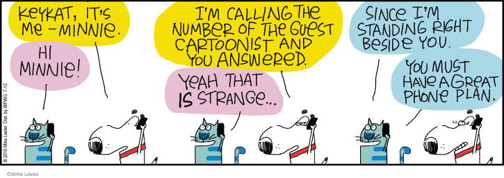 Comic Strip Mike Lester  Mike du Jour 2016-07-12 cell phone number