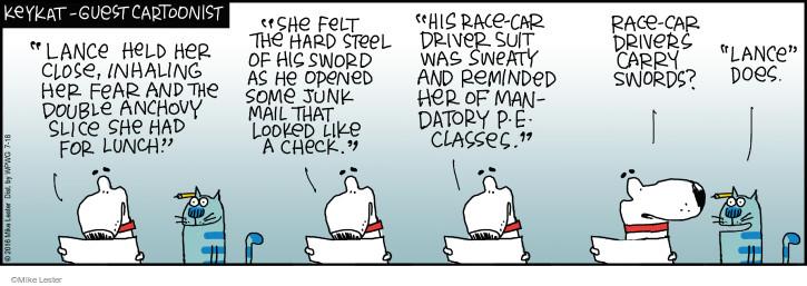 Comic Strip Mike Lester  Mike du Jour 2016-07-18 romance