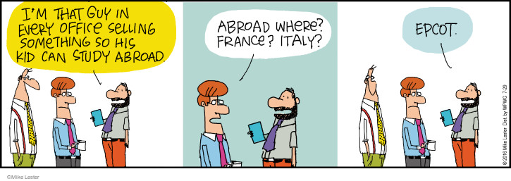 Cartoonist Mike Lester  Mike du Jour 2016-07-29 world