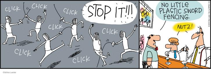 Comic Strip Mike Lester  Mike du Jour 2016-08-03 fencing