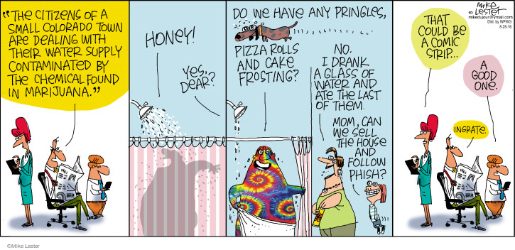 Comic Strip Mike Lester  Mike du Jour 2016-08-28 pizza