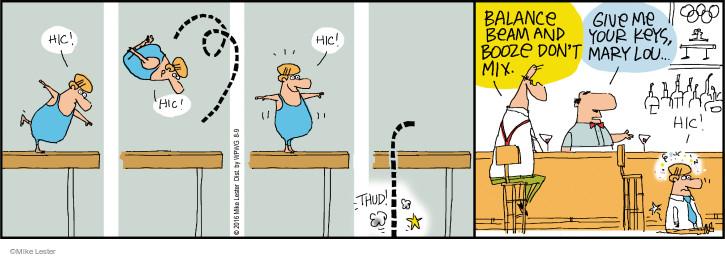 Cartoonist Mike Lester  Mike du Jour 2016-08-09 drinker
